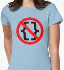 No Braces - Funny Python Coding Design Red/Black T-Shirt