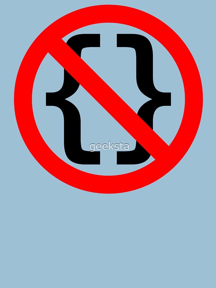 No Braces - Funny Python Coding Design Red/Black by geeksta