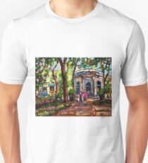 ROMANTIC QUIET STROLL THROUGH PARK ST LOUIS SQUARE CAFE KIOSK MONTREAL LANDMARK ART C SPANDAU T-Shirt