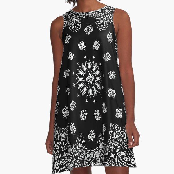 Bandana Black A-Line Dress