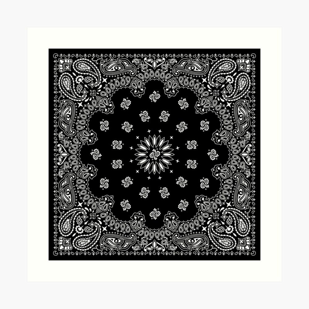 Bandana Black Art Print