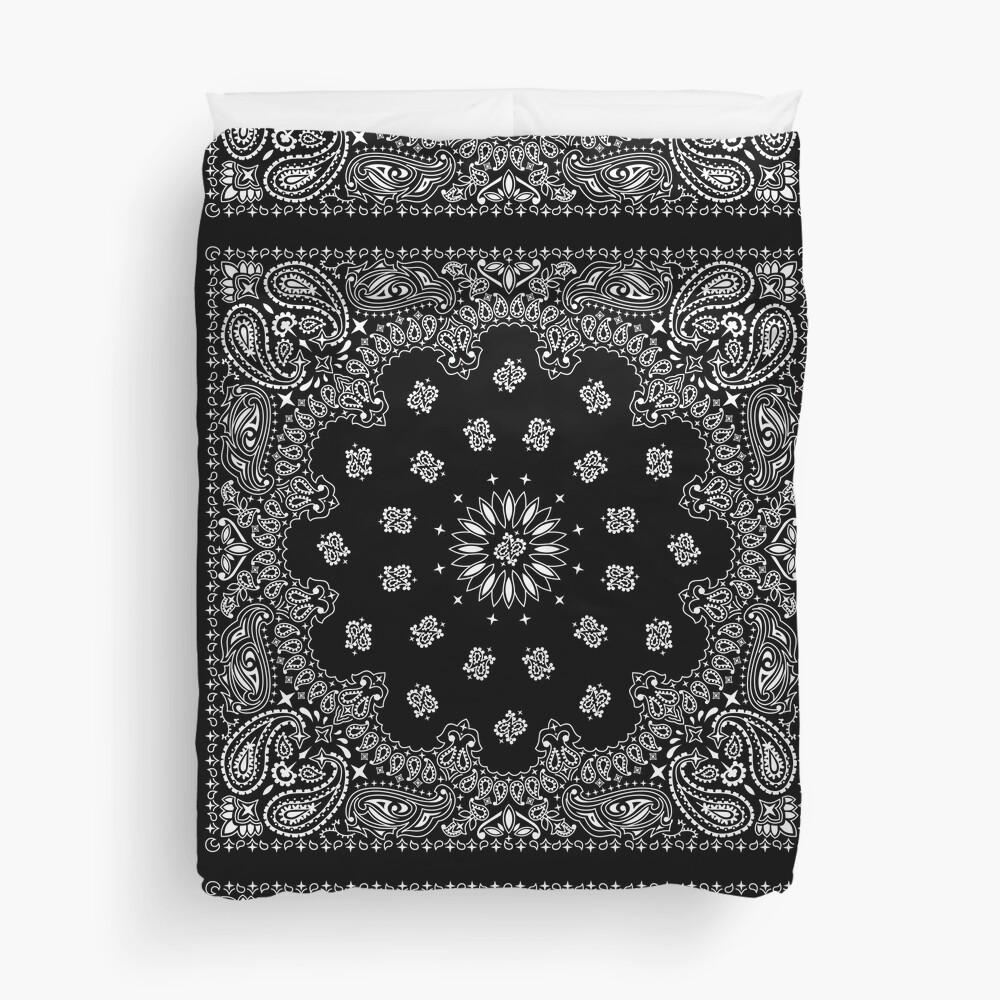 Bandana Black Duvet Cover