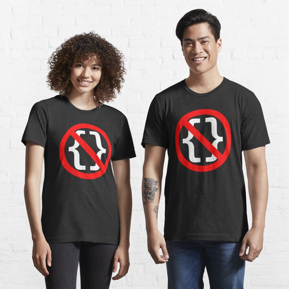 No Braces - Funny Python Coding Design Red/White Essential T-Shirt