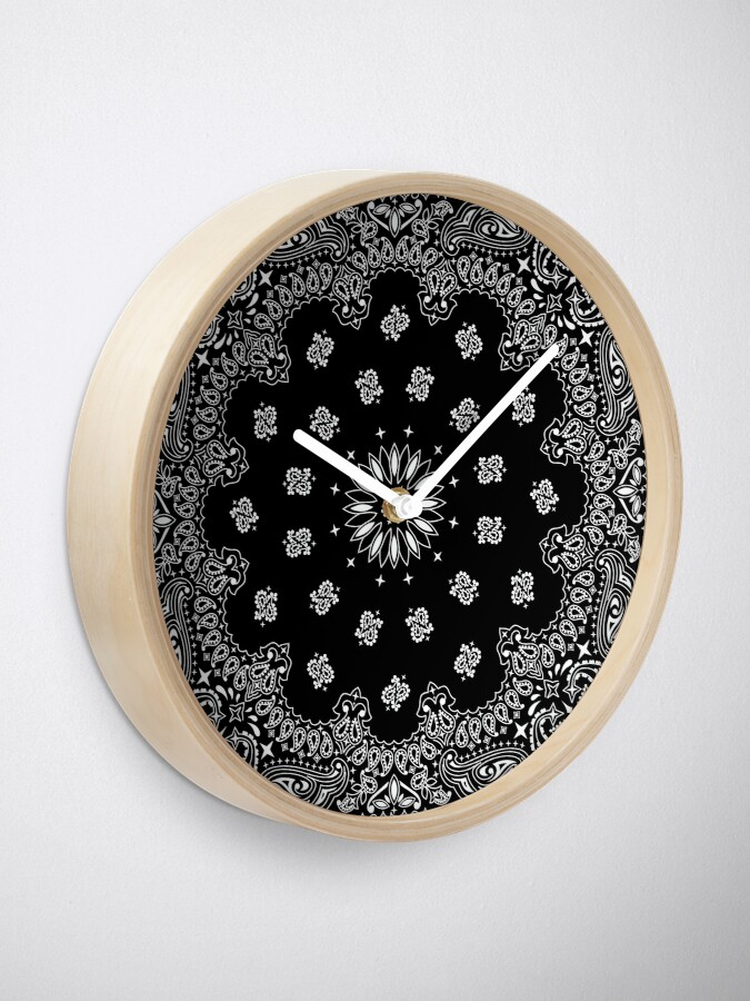 Alternate view of Bandana Black Clock
