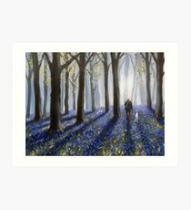 The bluebells are ringing Art Print