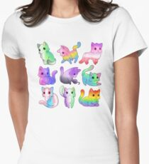 Pride Cats Women's Fitted T-Shirt