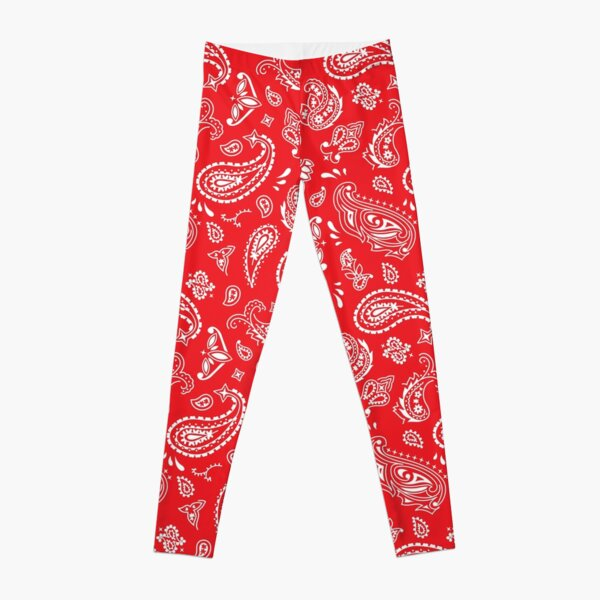 Bandana Seamless Pattern Red Leggings