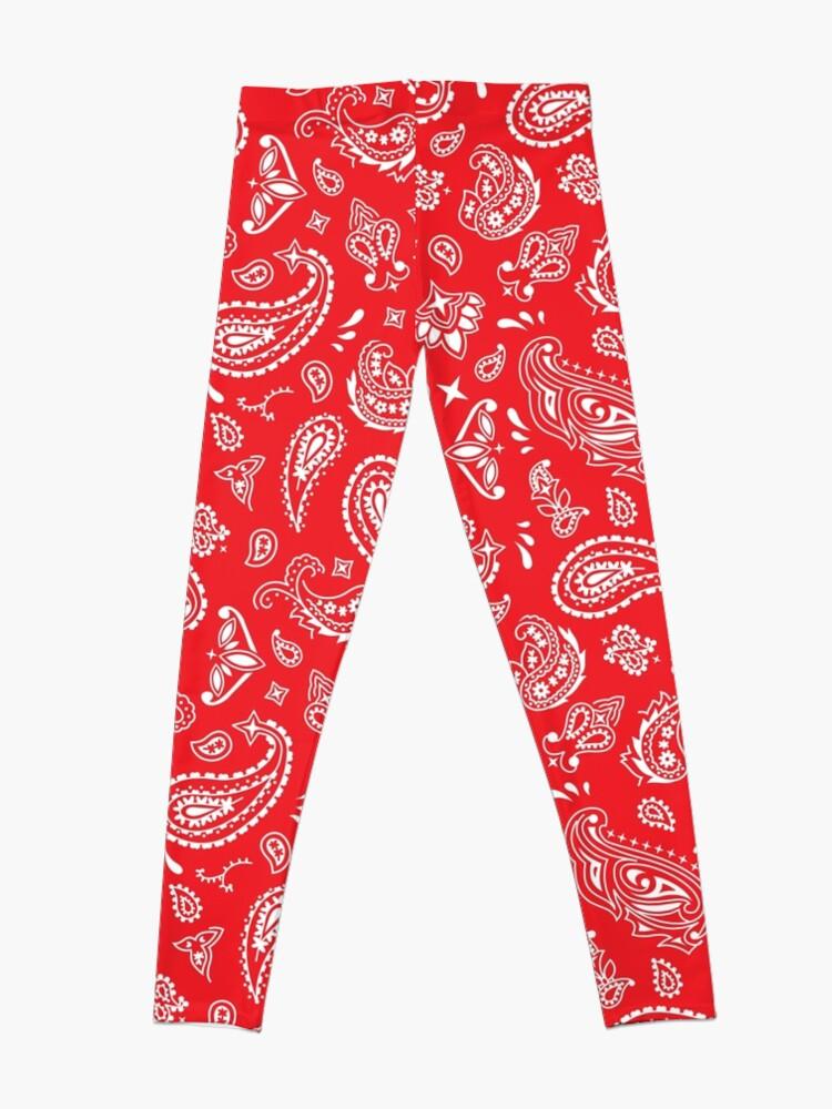 Alternate view of Bandana Seamless Pattern Red Leggings