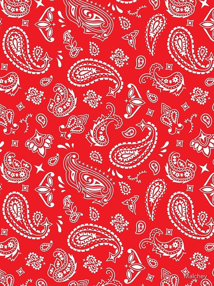 Bandana Seamless Pattern Red by Malchev
