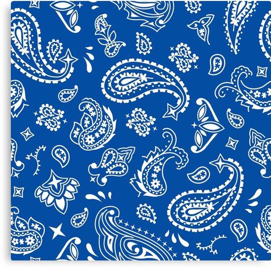Bandana Seamless Pattern Blue Canvas Prints By Malchev Redbubble Delectable Bandana Pattern