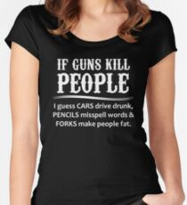 Gifts for Gun Lovers Women's Fitted Scoop T-Shirt