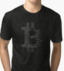 Bitcoin Cryptocurrency cryptocurrency logo gray Tri-blend T-Shirt