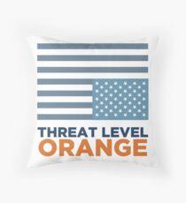 Threat Level Orange Throw Pillow