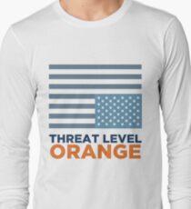 Threat Level Orange Long Sleeve T-Shirt