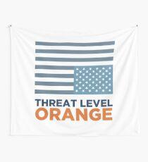 Threat Level Orange Wall Tapestry