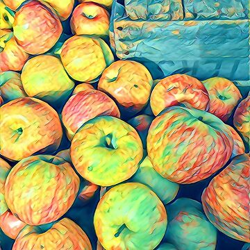 Cezanne on the Hudson - Apples at the Farmers Market by mimmi12