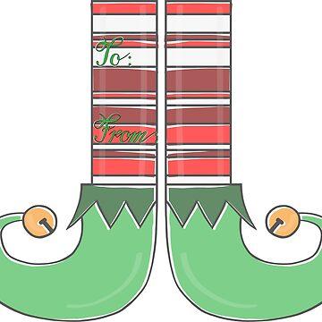 Elf Shoes Gift Tag by katsprintbtq