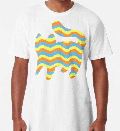 Wavy Cat Long T-Shirt