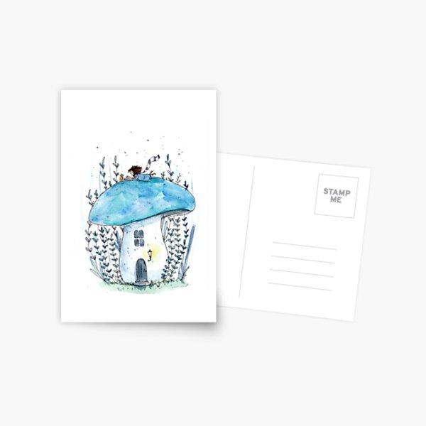 Gemütlicher Pilz Postkarte