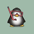Snorkelling Penguin by LucyOlver