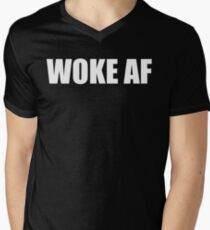WOKE AF Men's V-Neck T-Shirt