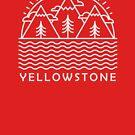 Yellowstone Line Art by André Martínez