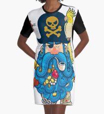 Pirate Portrait Graphic T-Shirt Dress