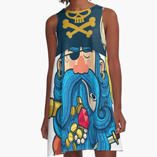 Pirate Portrait A-Line Dress