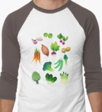 Farmers Market Men's Baseball ¾ T-Shirt