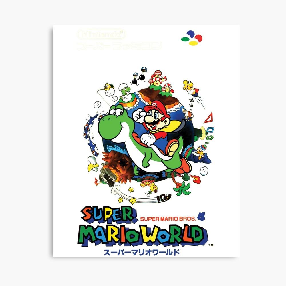 Super Mario World Canvas Print By Onjai Redbubble