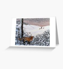 Watcher in the woods Greeting Card