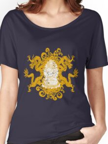 Buddha with Dragons Women's Relaxed Fit T-Shirt