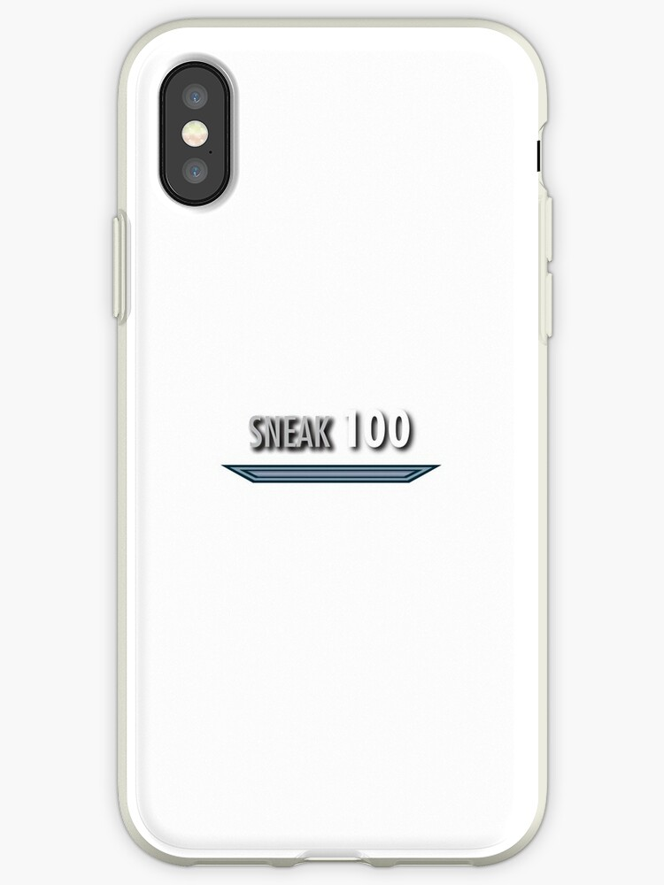 'Sneak Skyrim skill style' iPhone Case by NVDesigns