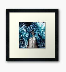 Ocean Fabric Framed Print