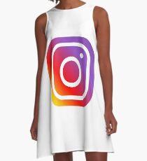 Instagram A-Linien Kleid