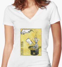 Magic Castle Gibson Girl Women's Fitted V-Neck T-Shirt