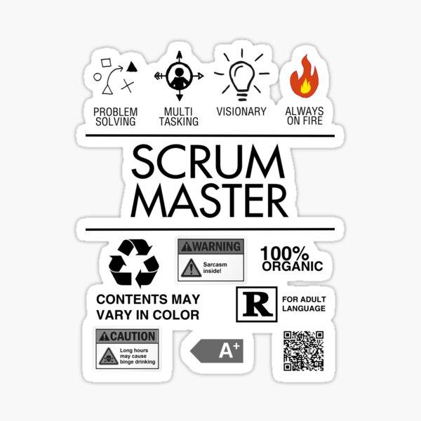 Scrum Master - Always on Fire Sticker