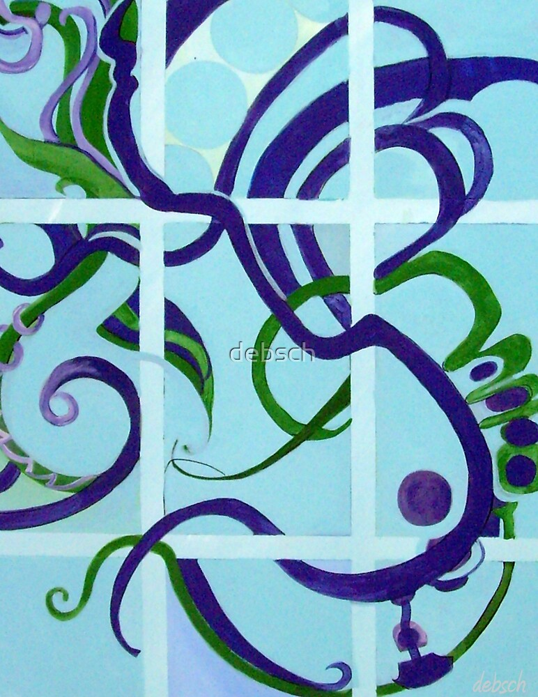 Abstract in Blues and Greens by debsch
