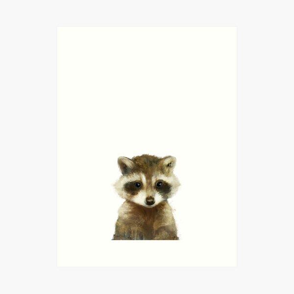 Little Raccoon Art Print