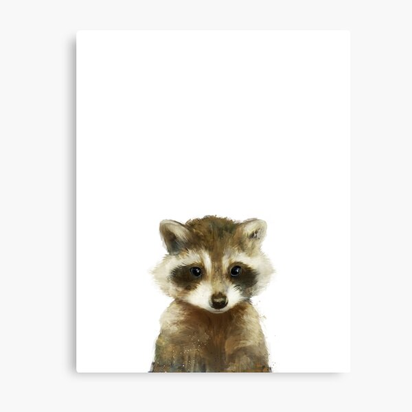 Little Raccoon Metal Print