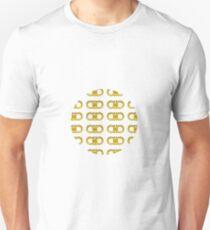 Gold Horseshoe Pattern Unisex T-Shirt