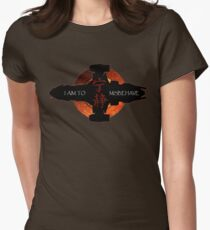 I aim to misbehave Womens Fitted T-Shirt