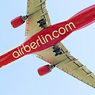 Airberlin Airbus landing. by David A. L. Davies