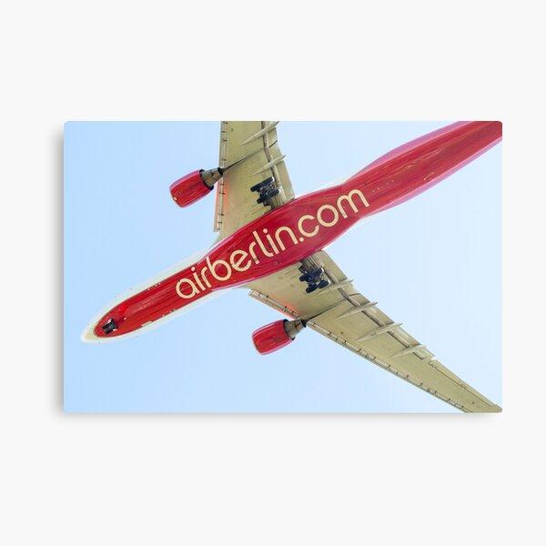 Airberlin Airbus landing. Metal Print