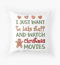 Bake & Watch Movies Throw Pillow