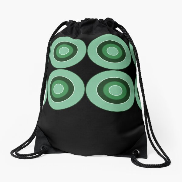 Panton Green Circles Drawstring Bag