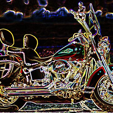 Neon Motorcycle by photoforyou
