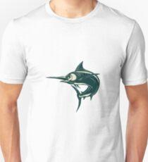 Atlantic Blue Marlin Scraperboard  Unisex T-Shirt