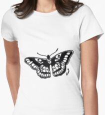 Butterfly Tattoo Women's Fitted T-Shirt