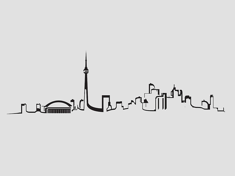 """Toronto Skyline Outline"" Greeting Cards by YoursTrulyAli ..."